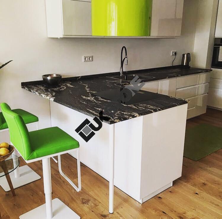 Blat kuchenny – granit Titanium satyna
